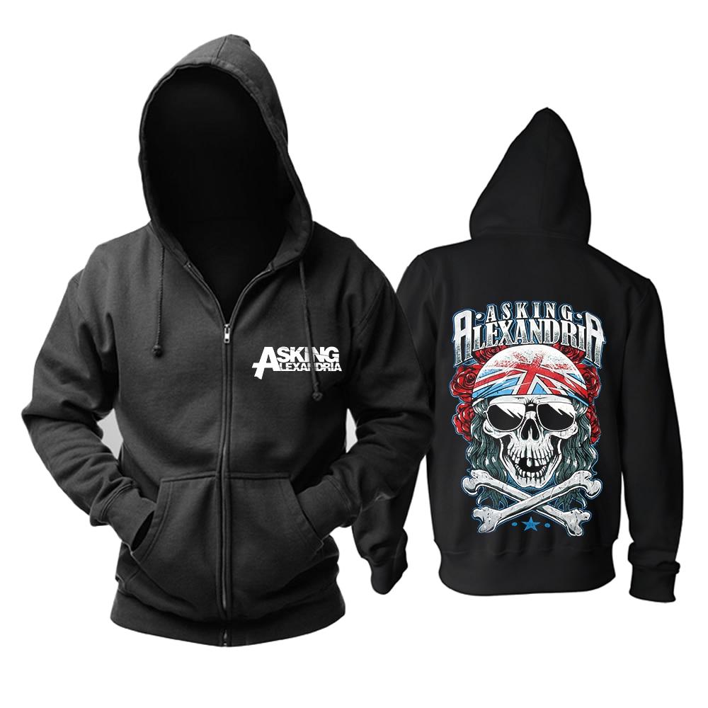 Bloodhoof ยืนขึ้นและกรีดร้องโดยถาม Alexandria Monster Heavy โลหะสีดำผ้าฝ้าย Hoodie ขนาดเอเชีย-ใน เสื้อฮู้ดและเสื้อกันหนาว จาก เสื้อผ้าผู้ชาย บน   1