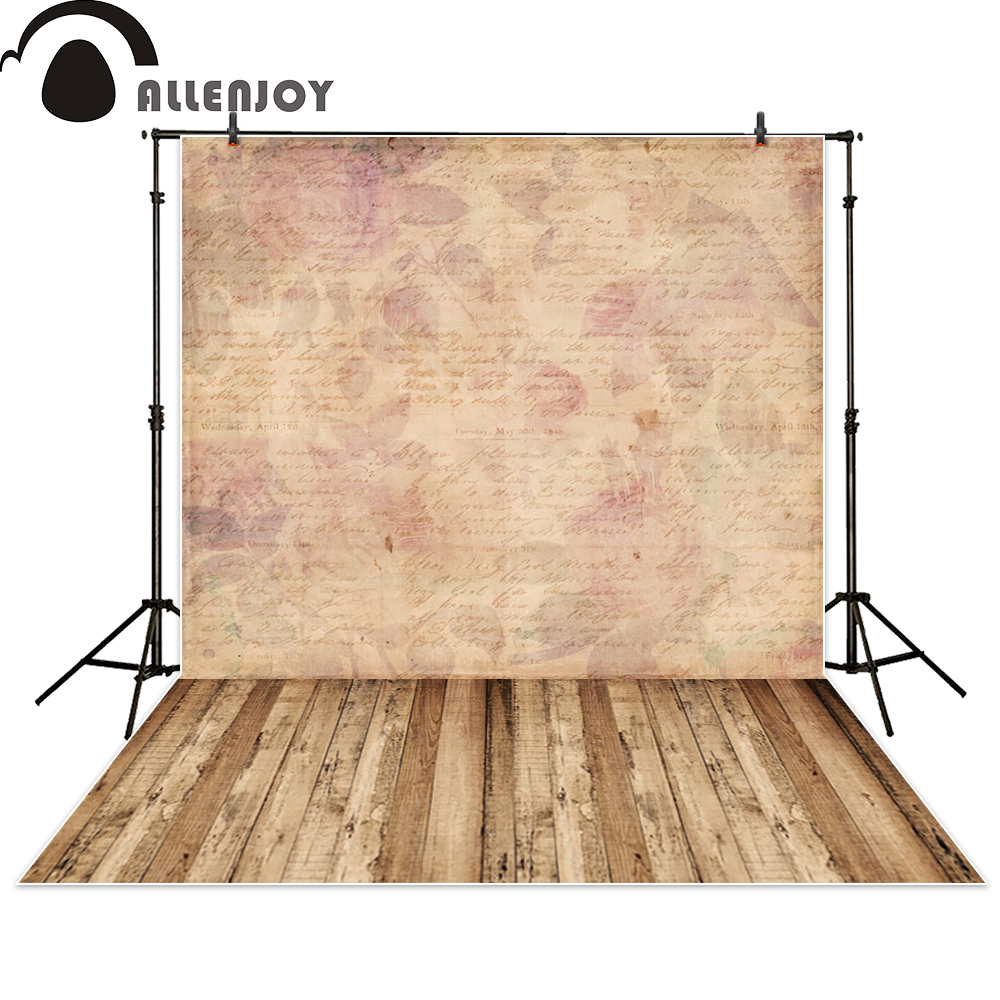 Allenjoy background photography flower abstract vintage letter wood backdrop photo studio fantasy photocall photographic