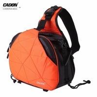 CADEN Waterproof Sling Shoulder Cross Camera Bags Digital Camera Case Soft Men Women Shockproof Camera Messenger