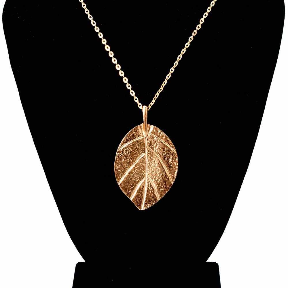 ผู้หญิงแฟชั่น Elegant Lucky Golden Leaf สร้อยคอจี้สร้อยคอยาวเลดี้สร้อยคอเครื่องประดับงานแต่งงานสาวของขวัญ