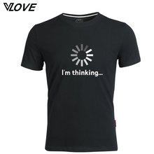 I'm thinking funny printed men t shirt 2017 new trend O-neck tshirt short sleeve depeche mode tops casual clothing