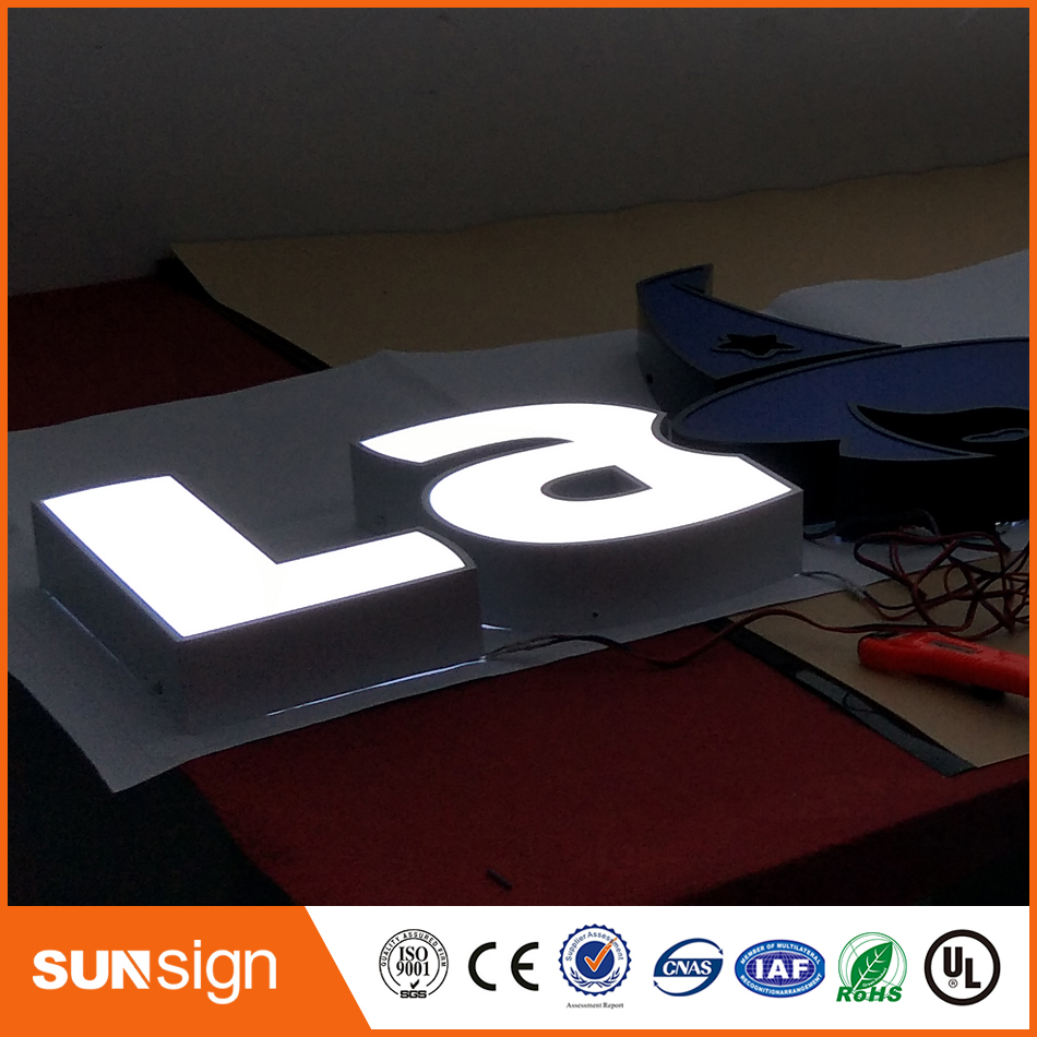 Shop Front LED Letter Signs, Front Lit Channel Letter