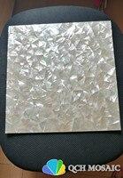 Натуральный белый перламутр мозаика для ТВ задней стенке и кухня щитка плитка настенные украшения 1 квадратных футов/шт