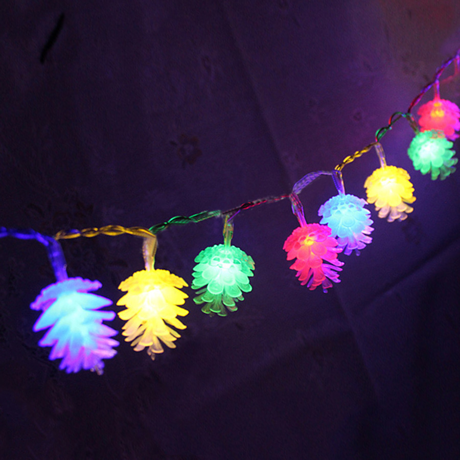 4M 20LED PineCone Shape Fairy String Lights Garland Christmas Wedding Holiday String Lights for ...