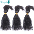 New Arrival Braid In Bundles 3Pcs Brazilian Afro Kinky Curly Virgin Hair 100% Human Hair Braided Directly Into Your Natural Hair