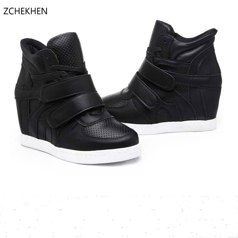 Designer High Quality women Sneakers New fashion  Hook & Loop Casual boots Flats High Top hip hop street Shoes gram epos men casual shoes top quality men high top shoes fashion breathable hip hop shoes men red black white chaussure hommre