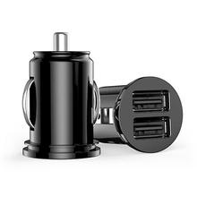 Universal Black Micro Auto Mini 3.1A Dual 2 Port USB Car Charger For iPhone iPad 2 3 4 iPod Fast Charging Adapter /Cigar Socket universal 4 port usb car auto charger adapter for iphone6 6s 5 ipod ipad samsung