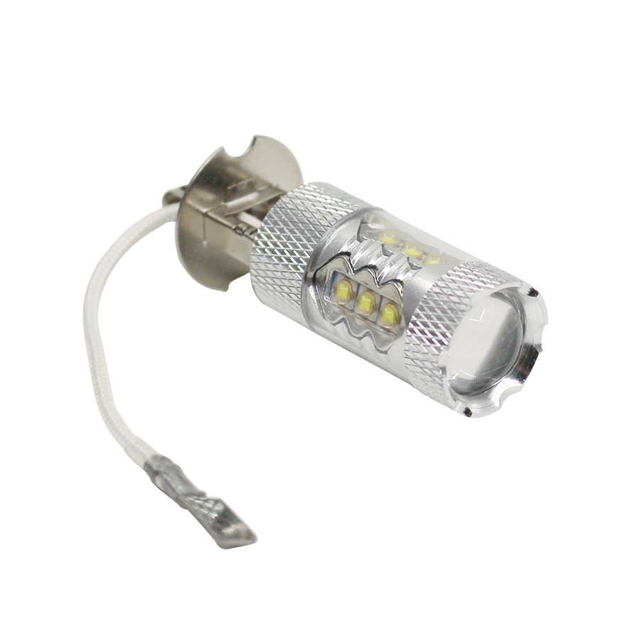 1PCS High Power H3 LED 80W LED Super Bright White Fog Tail Turn DRL Auto Car Light Daytime Running Driving Lamp Bulb 12V 1pcs h1 led good 80w white car fog lights daytime running bulb auto lamp vehicles h1 led high power parking car light source