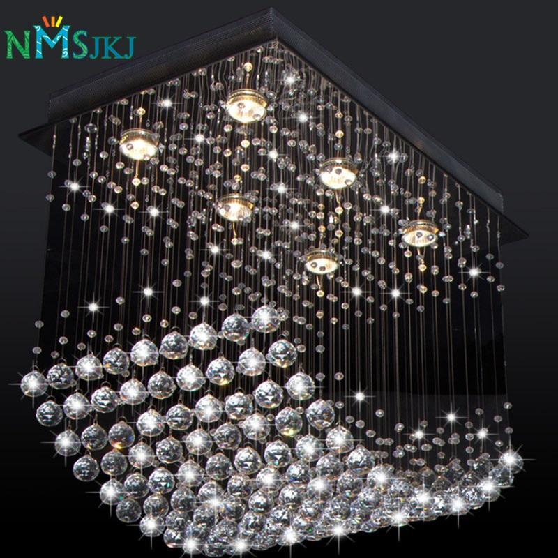 Новый заподлицо Роскошный Современный хрустальный волновая люстра, Гостиная столовая свет K9 кристалл лампы