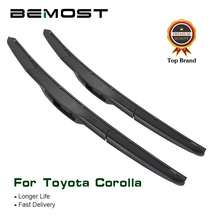 BEMOST Car Wiper Blade Natural Rubber For Toyota Corolla Wagon Hatchback Saloon Verso Fit Hook Arm Model Year From 2001 To 2014