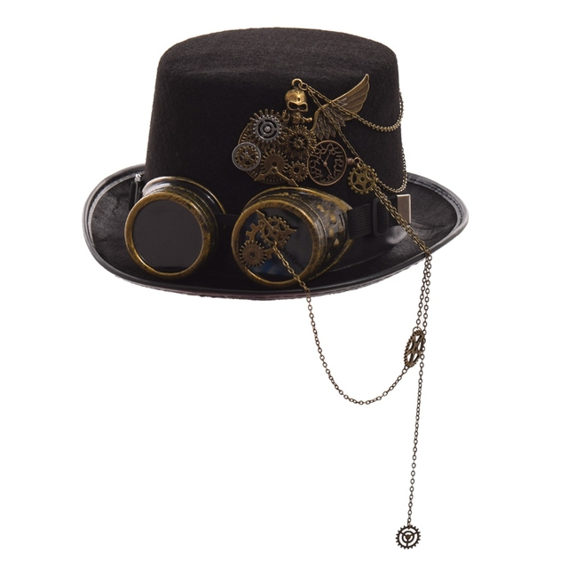 Шляпа в стиле стимпанк с очками в ассортименте вариант 4 2