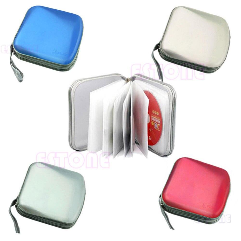 OOTDTY 40 Disc New CD VCD DVD Bag Case Plastic Box Wallet Album Storage Organizer