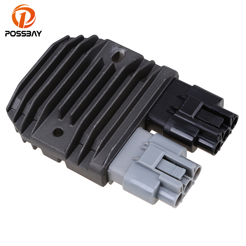 POSSBAY Motorcycle Metal Voltage Regulator Rectifier for Polaris 2011-2014 RZR <font><b>800</b></font> & RZR S <font><b>800</b></font> <font><b>UTV</b></font> ATV Aluminum Rectifier image