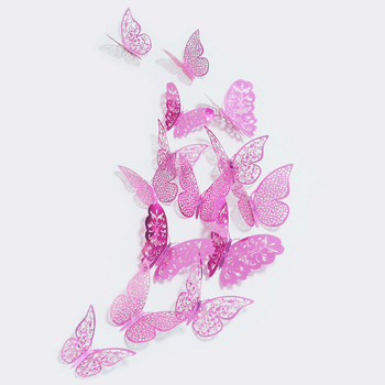 36 Teile/satz Neue Ankunft Rosa/Gold/Silber 3D Doppel Schmetterling ...