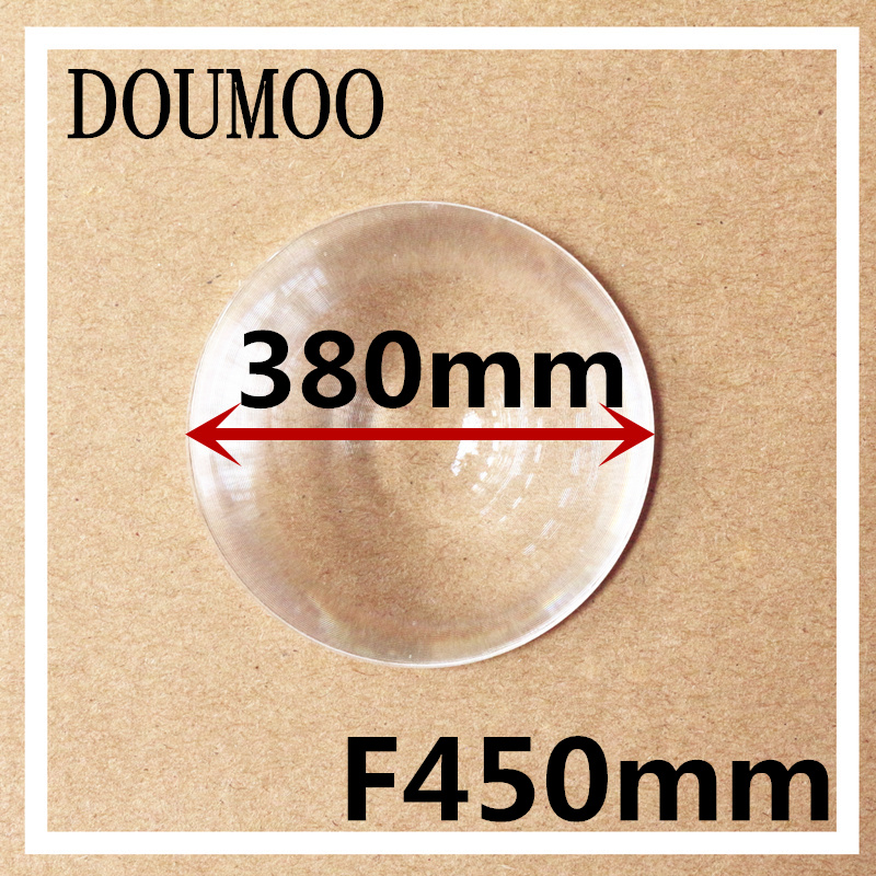 Support dropshipping big size Diameter 380 mm Focal length 450 mm Fresnel Lens led condenser lens Round acrylic fresnel lens