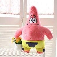 Venda direta da fábrica enviou grandes estrelas dos desenhos animados bob esponja boneca de pelúcia brinquedos de pelúcia presentes namorada brinquedos das crianças por atacado