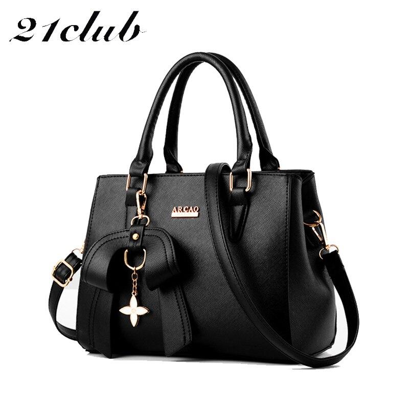 21club brand ladies medium zipper casual bow 7 colors strap totes shopping work satchels women crossbody shoulder handbags