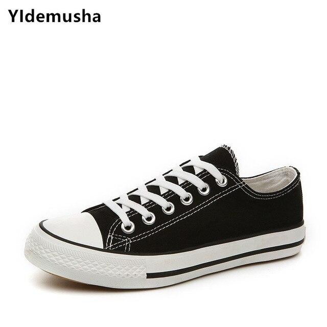 YIdemusha חדש קיץ סניקרס טריזי בד נעלי גברים מזדמנים נעלי גברים לנשימה לבן סל כוכבים Zapatos Mujer מאמני נעליים