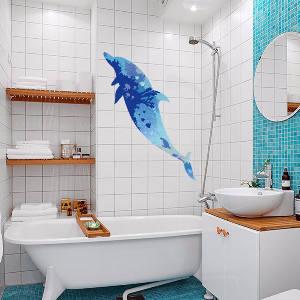 Blue Dolphin ocean bathroom Bathtub washroom kitchen for baby kids ...