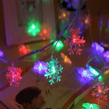 80led Battery Operation Silver Snow LED String Lights Patio Fairy String  Lights Party Chritmas Wedding Decoration