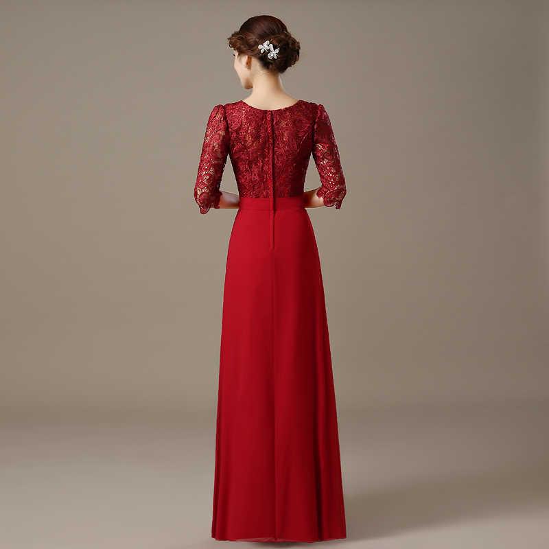 ... womens gown 2018 light 2019 elegant long dark red beaded chiffon full-length  prom dresses f5ec8a423411
