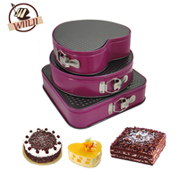 Square Round Heart Shaped Cake Mold Metal Non Stick Bottom Buckle Metal Chocolate Bread Mousse Baking
