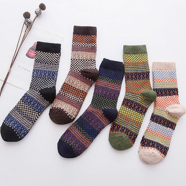 Thick warm Striped Casual Socks