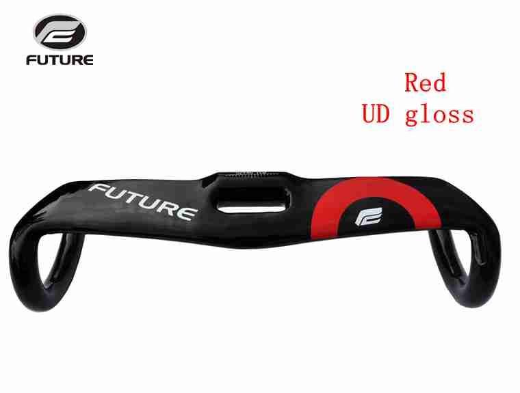 FUTURE pince de guidon de course de vélo de route en carbone pleine bande 31.8mm UD Texture barre de chute câble interne partie de vélo 400-440mm