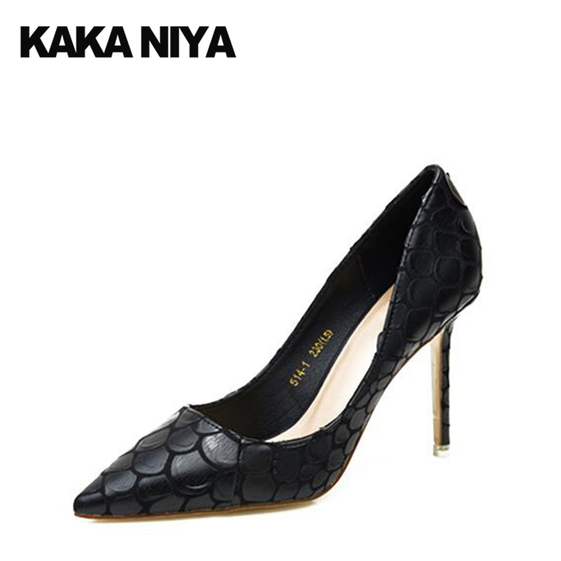 Ultra Snake Super 2017 Pumps Red Stiletto Heels Ladies Size 4 34 Snakeskin Thin High Party Black Extreme Pointed Toe New Fashion 2017 women strange autumn brown abnormal evening pointed toe blue catwalk high heels pumps size 4 34 stiletto medium fashion new
