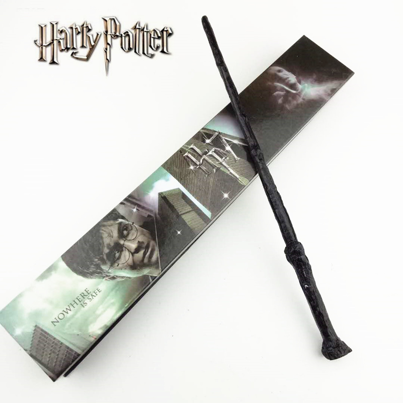 Cosplay Harry Potter Play Magical Magic Wand Gift In Box Metal Core Harry Potter Magical Wand harry potter ollivanders dumbledore the elder wand in box prop replica