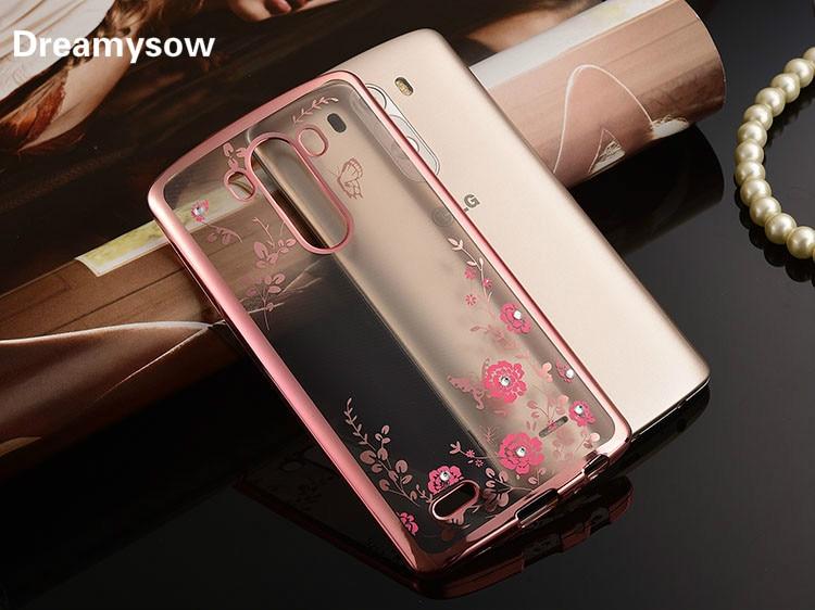 Luxury Glitter Diamond Beautiful Secret Garden Flower Pattern Back Cover for LG G5 K10 K ...