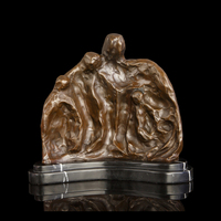 ATLIE BRONZES Pure Handmade Abstract Statues One Family Bronze Sculpture and Figurines Modern Father and Mother's Day Gifts