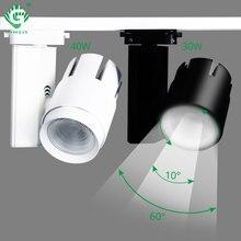 Современные светодиодные трековые светильники 30 Вт 40 Вт, направляющие прожекторы, магазин одежды, витрины, окна, потолок, масштабируемые трековые осветительные приборы