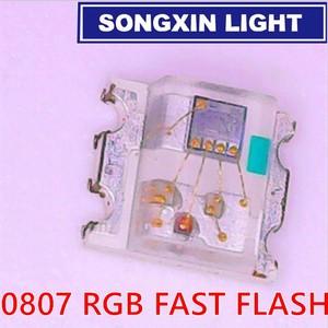 Image 2 - 1000pcs Flashing LED SMD Diode 0805 RGB Diodo flash Alto Brilho Diod 0807 RGB Flash LED Color Changing fast slow flash