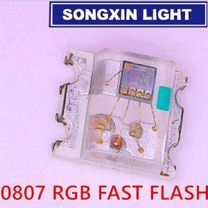 """Image 2 - Светодиодный Диод SMD 1000 шт., 0805 RGB диодное мигание, Alto Brilho Diod 0807 RGB мигание, светодиодный регулятор скорости смены цвета, """"быстро медленно"""" мигание"""