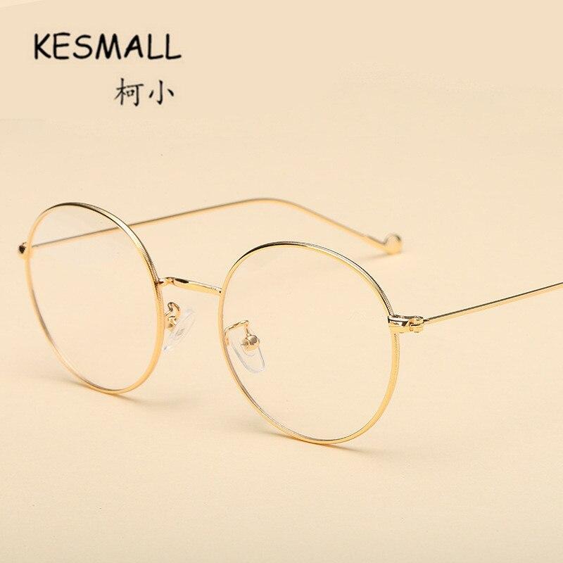 ჱKesmall 2018 verano vintage gafas mujeres hombres ronda del metal ...