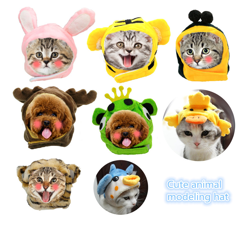Cute animal modeling hat Pet hat dog teddy rabbit ear set Teddy cat hat cap GP170901-03 ...