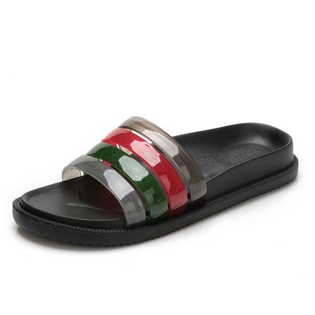 Для мужчин летняя Ева Сандалии для девочек дома Ванная комната пляжные шлепанцы удобные в полоску Сланцы мужские мокасины Обувь