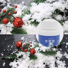 Economical Fake Snow Artificial Fluffy Powder Instant Snow Cloud Slime Party Supplies 80g ds99(China)