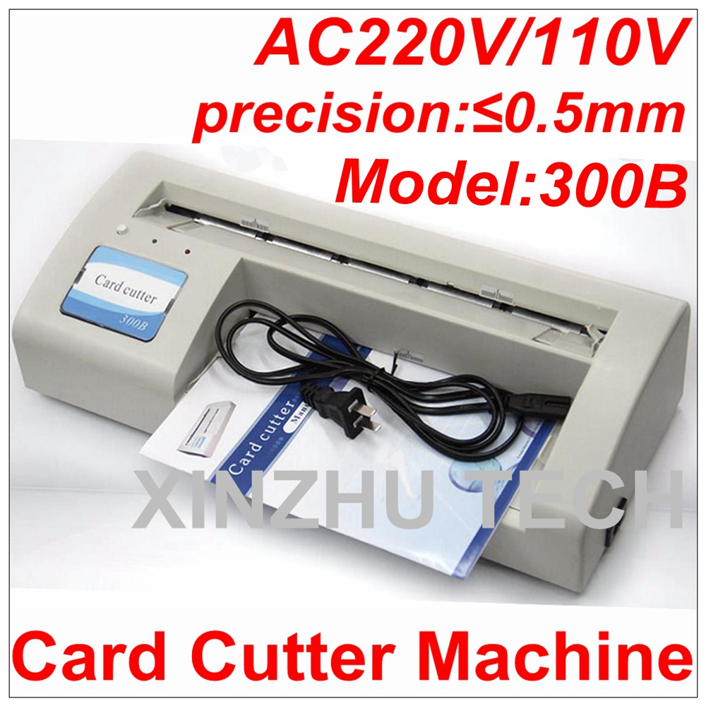 New Arrival 300B Card Cutter Machine Automatic Name Card Slitter Business Card Cutting Machine Name Card Cutter A4 Size 90x54MM стоимость