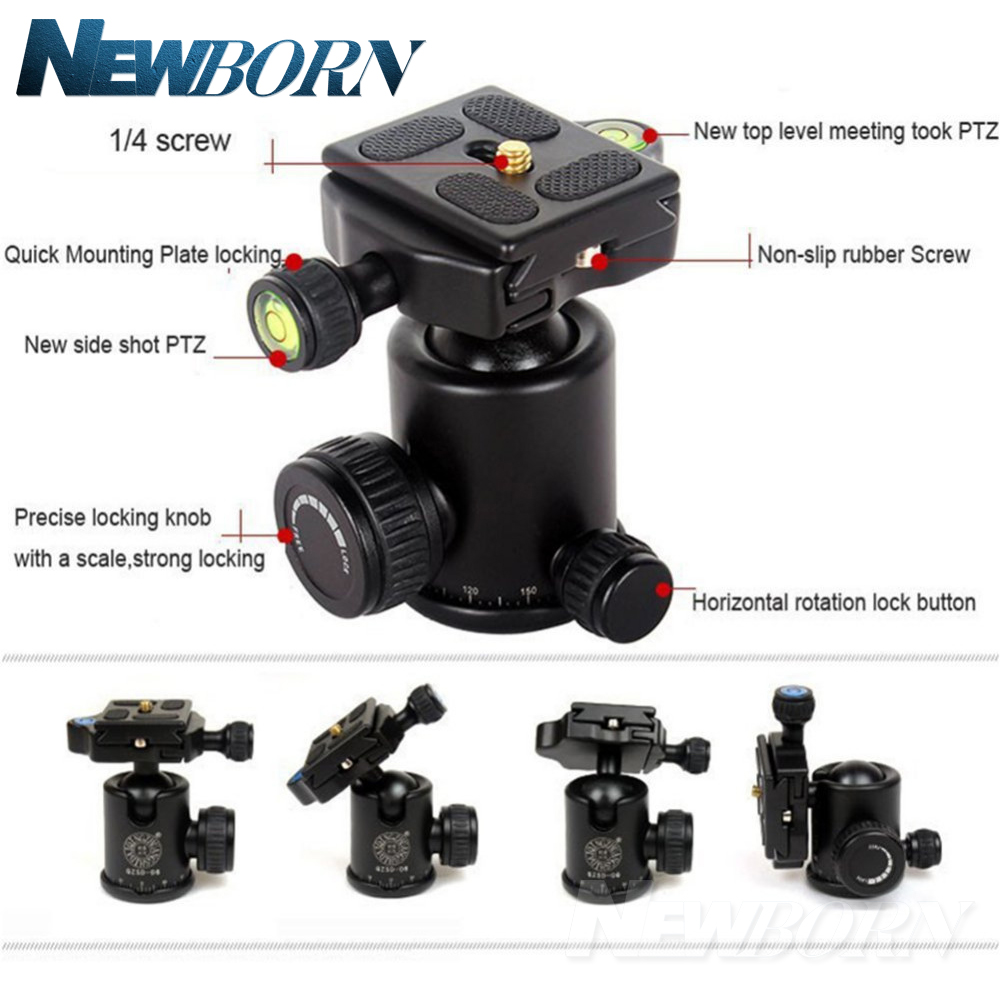 Upgrade Q999S Professional Photography Portable Aluminum Ball Head+Tripod To Monopod For Canon Nikon Sony DSLR Camera
