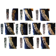 Новая мода татуировки рукава рука грелка унисекс на открытом воздухе временные фальшивые татуировки рука рукав солнцезащитный ледяной рукав