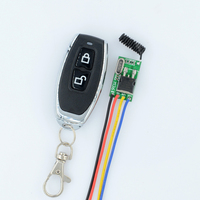 DC 6V 7.4V 9V 12V 14V 16V 18V 24V 28V 36V Micro Power Remote Switch Wide Voltage RF Receiver +Transmitter Factory Sell