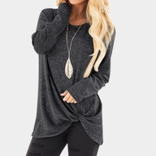 2018 ZANZEA Women O Neck Long Sleeve Flod Solid Casual Blouse Loose Ladies Brief Top Spring Basic Black Pleated Shirt Plus Size