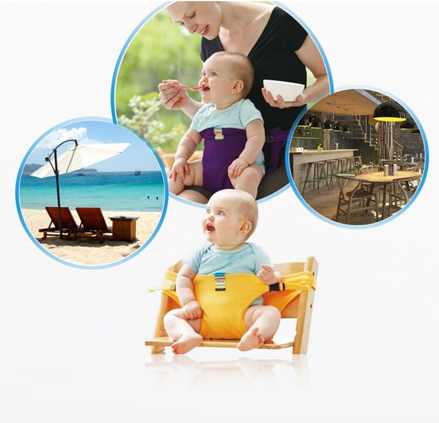 Infant Chair Portable Seat Dining Lunch Chair Safety Belt Baby Feeding Booster Seat Toddlers Children Safety Belt For Boys Girls