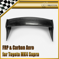 Car styling For Toyota MK4 Supra TRD Style FRP Fiber Glass Rear Spoiler With Carbon Fiber End Cap Fiberglass Trunk WIng Bodykit