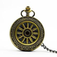 1106 New Steampunk Retro Bronze Roman Num Pendant Mechanical Pocket Watch Men Women Watch