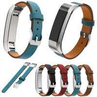 Reemplazo de Alta calidad pulsera de cuero genuino correa de reloj de pulsera para Fitbit Alta HR/Alta Fitness Tracker Watchbands