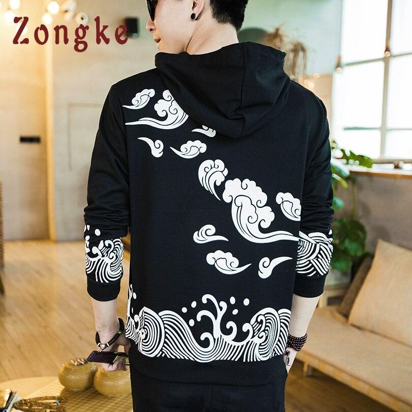 Zongke 2019 New Autumn Winter Hip Hop Pullover Hoodies Men Fashion Streetwear Casual Sweatshirt Men Hoodies Sweatshirts M-5XL