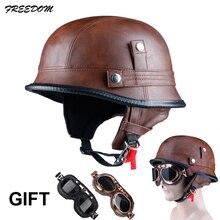 LDMET moto rcycle шлем, закрывающий половину лица vespa helm moto harley Винтаж Ретро cascos para moto немецкий припой